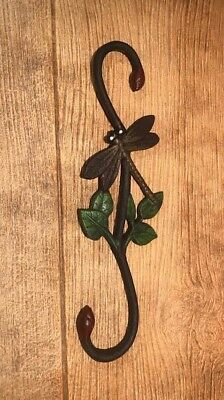 "Painted Dragonfly Cast Iron ""S"" Plant Hangers 12"" Tall (Set of Two) 0184J-3073"