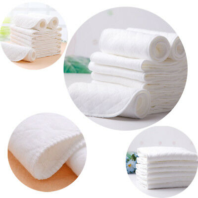 Cotton Bulk Modern Inserts Liners Reusable Washable Cloth Nappies Diapers Baby