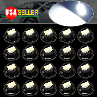 20x Pure White T5/T4.7 Neo Wedge LED Instrument Cluster Panel Dash Light Bulbs