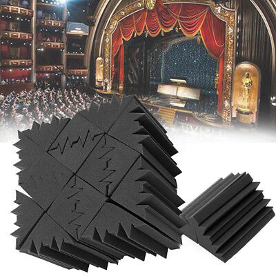8pcs Black Room Corner Bass Trap Acoustic Foam Studio Soundproof Treatment New