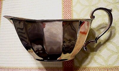 Vintage WALLACE silverplate CREAMER.Squared oval. Very good condition and clean.