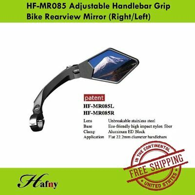 Hafny HF-MR081 Fully Adjustable Magic Bike Rear View Handlebar Mirror Left