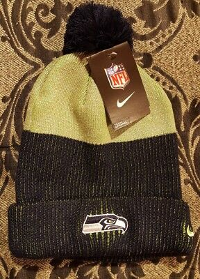 28dd15b2a NWT Authentic Nike NFL Seattle Seahawks Stocking Cap Hat Adult Unisex One  Size