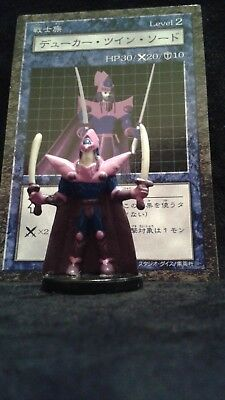 YUGIOH Dungeon Dice Monsters DDM - Japanese KNIGHT OF TWIN SWORDS figure & card