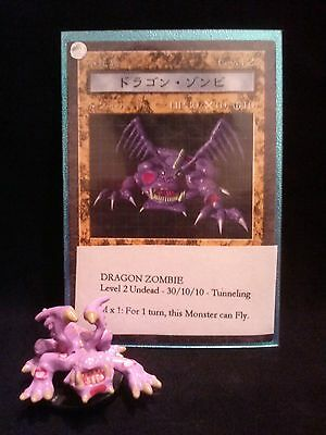 YUGIOH Dungeon Dice Monsters DDM - Japanese  DRAGON ZOMBIE  figure & card lot