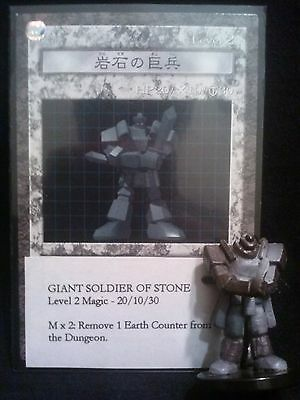 `YUGIOH Dungeon Dice Monsters DDM - Japanese  GIANT SOLDIER OF STONE figure/card