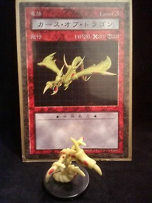 YUGIOH Dungeon Dice Monsters DDM - Japanese CURSE OF DRAGON  figure & card lot