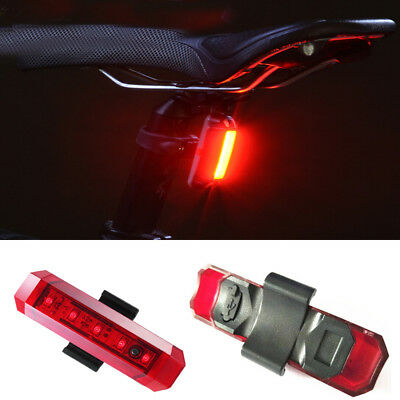 Bicycle Taillight Safety Warning Led Lamp Rear Bike USB Rechargeable Tail Light