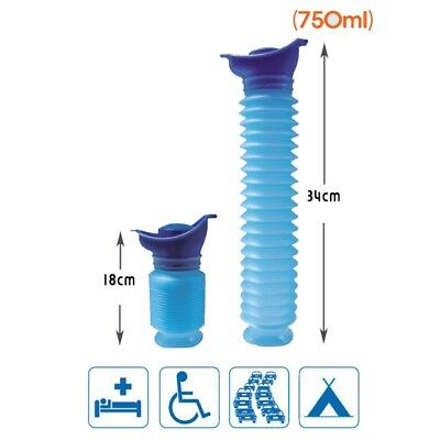 Unisex Adult Portable Toilet Bottle Outdoor Travel Camping Stand Urinal Pee 750