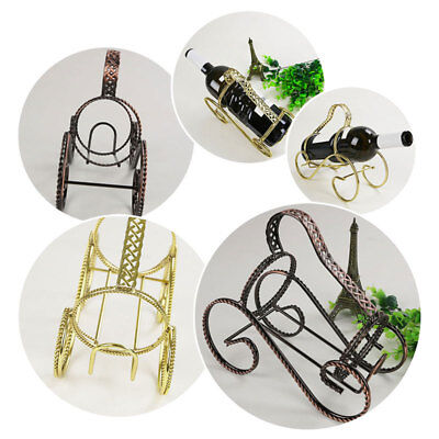 Wine Bottle Holder S-Shape Fine Wire Classic Style Frame Twisting Line Rack Gift