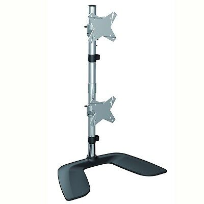 Brateck Free Standing Dual Vertical LCD Monitor Stand from 1'-27'