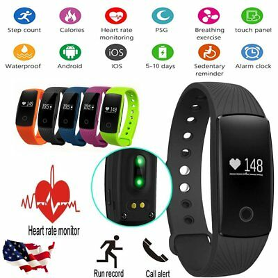 ID107 Smart Wristband Sport Watch Heart Rate Monitor Fittness Tracker Pedometer
