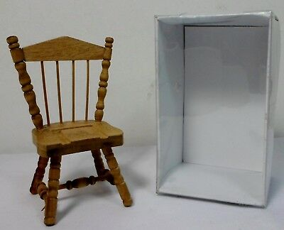 VTG 80's DOLL HOUSE 3.5'' WOODEN CHAIR FURNITURE COLLECTOR's DETAILED UNUSED SET