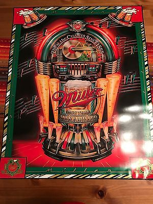 Miller Beer Jukebox Poster- Buy That Man a Miller: Top of the Charts Since 1855