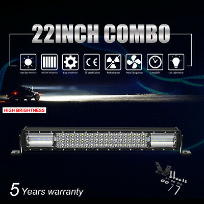 """8D+ CREE CURVED 42"""" inch 2592W LED Work Light Bar Spot Flood Offroad Driving 4WD"""