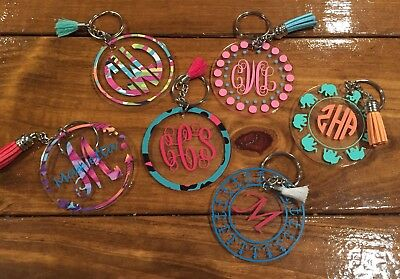 Acrylic Monogram Keychain / Lilly Inspired Prints