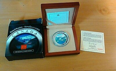 2003 Canada $20 Fine Silver Coin -  The Rockies  Natural Wonders