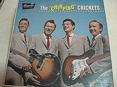 Original Buddy Holly and The Chirping Crickets Lp on Brunswick VG Textured Cover