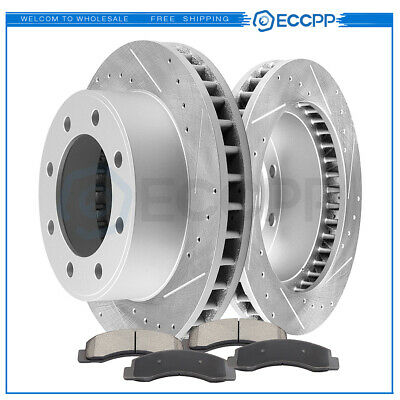 Front And Rear Brake Rotors /& Ceramic Pads For Ford F250 F350 Excursion 4WD 4X4