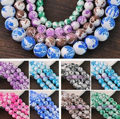 Bulk Lot 6mm 8mm 10mm 12mm Babysbreath Round Spacer Loose Glass Beads Jewelry