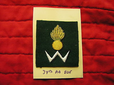 34Th Anti-Aircraft Brigade Formation Sign British Army Wwii Era - Embroidered