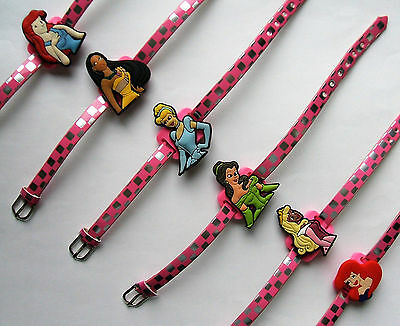 SHOE CHARM BRACELETS (C1) - inspired by  PRINCESS -  PACK OF 6