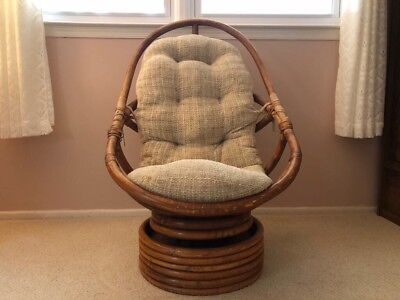 Cool Vintage Rattan Papasan Swivel Chair With Its Original Caraccident5 Cool Chair Designs And Ideas Caraccident5Info