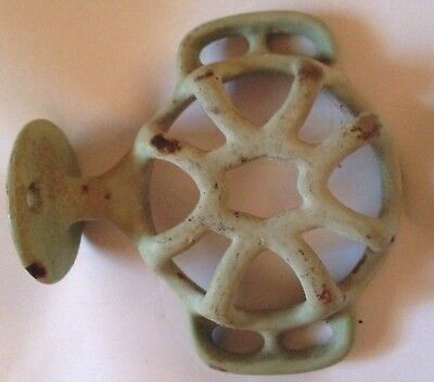 Porcelain Covered Cast Iron Toothbrush and Cup Holder