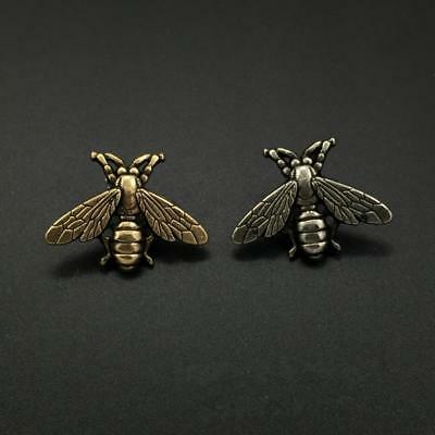 Retro Antique Metal Gold/Silver Bee Brooch Lapel Pin Badge Men's Suit, Coat, Tie