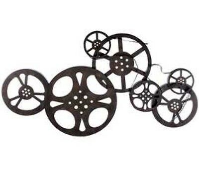 NEW Antique Bronze Metal Movie Reel Wall Art Theater Home Decor Sale