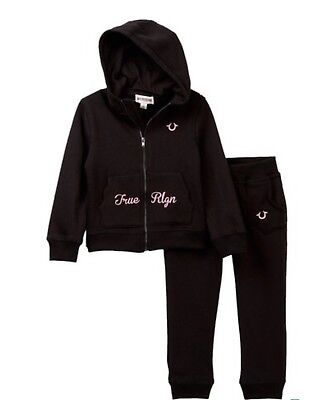 Auth.True Religion Toddler Girl 2 Pc Scalloped Hoodie & Pants Set Sz 4 Years NWT