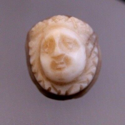 ANCIENT ROMAN AGATE CAMEO OF MEDUSA! circa 2nd - 3rd CENTURY A.D. - CHARMING!