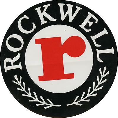 "#k298 (1) 3.5"" Rockwell Tools Automation Vintage Emblem Decal Sticker Laminated"