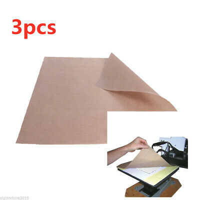 "3PCS* 15"" x 15"" Teflon Fabric Sheet 5Mil Thickness for Sublimation Printing"