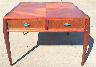 mid century two drawer end table / Chest made by Mount Airy for John Stuart