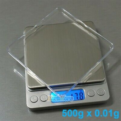 500gx0.01g Food Electronic Weighing Scale Digital Measuring Gram Accurate w/Tray