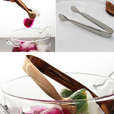 Stainless Steel Mini Sugar Tongs Cube Picker Ice Flatware Coffee Tools Kitchen