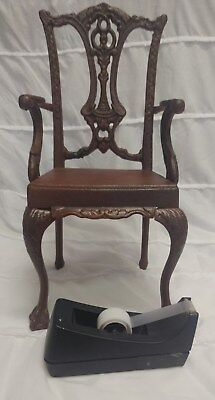 Victorian Trading Co American Girl Doll Cast Iron Ornate Chair Brown