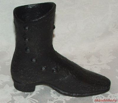 Vintage Cast Iron Button Up Victorian Boot Shoe Estate Find Collectible       R