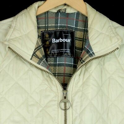 Barbour Quilted Fly Weight Jacket Beige Cream Lightweight Mens Size S Small