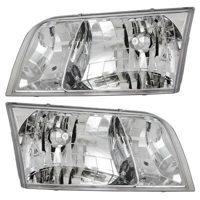 98 99 00 01 02 03 04 05 06-11 Ford Crown Victoria Set of Headlights Headlamps