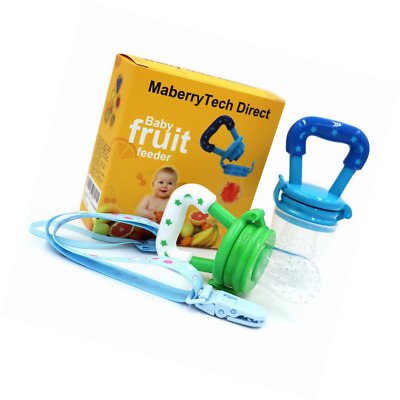 Baby Food Feeder, Silicone Pacifier Teething Toy - Maberry Mesh with Fresh Fruit