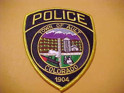Town Of Ault Colorado Police Patch Shoulder Size New
