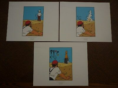 Tintin Crabe Aux Pinces D'or 3 Planches Herge Moulinsart 24*20