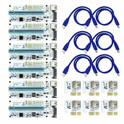 VER008S PCI-E 1X to 16X Riser Card Extender Adapter + 60CM USB 3.0 Cable
