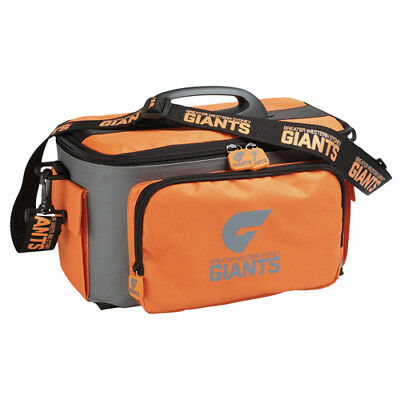 GWS Giants AFL Lunch Box Cooler Bag With Drink Tray Insulated BNWT Footy