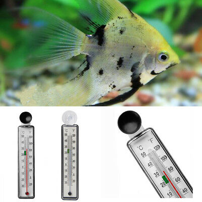 Aquarium Fish Tank Thermometer Glass Meter Water Temperature Gauge Suction Cup C