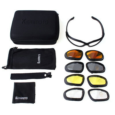 Motorcycle Glasses Riding Goggles with 4 Lens Kit for Outdoor Activity Sun Sport