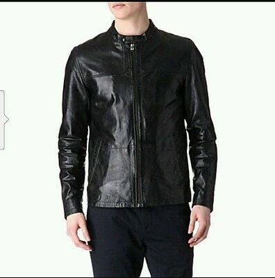 bcb5a5924ccd6 TED BAKER BIRGIN Leather Jacket Size 5 Rt  698 -  300.00