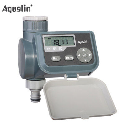 LCD Solenoid Valve Watering Timer Irrigation Controller With Rain Sensor Hole